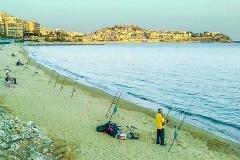 παραλία ψάρεμα